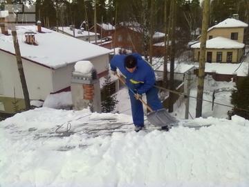 Чистка кровли от снега наледи и сосулек сургут